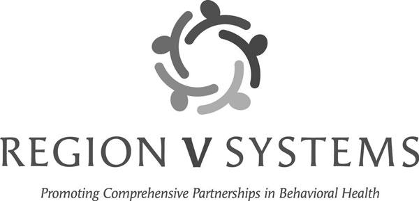 region v logo tag